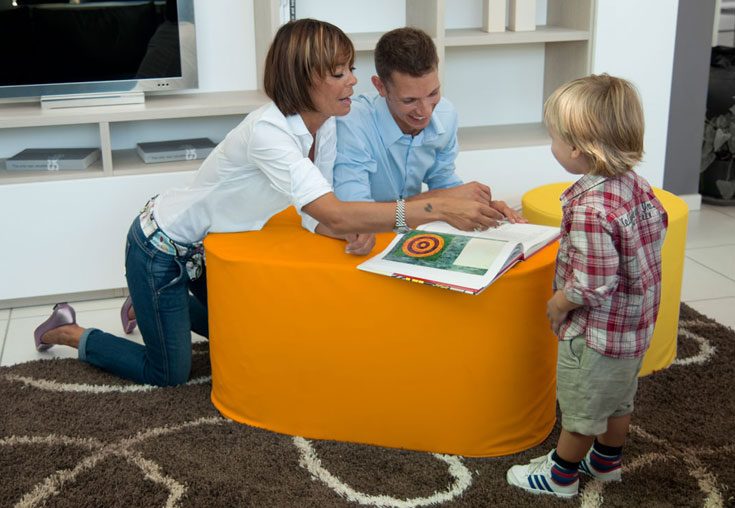 Pouf, puff, puf modular and stackable. Create your own composition of furniture!