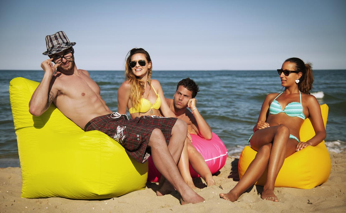 Sofa Soft Bimbò XXL- The bean bag in 2 dimensions, waterproof and water repellent for outdoor use