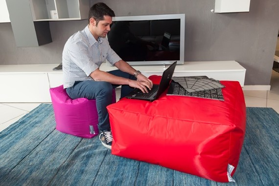 Soft ottoman cube-shaped