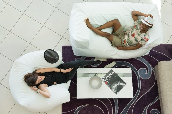 The soft two-seat sofa