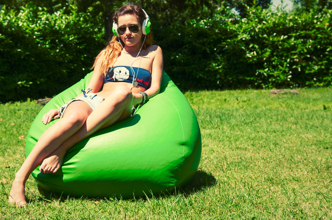 Sofa Soft Poirò - il classico pouf pera o bean bag in nylon per uso outdoor