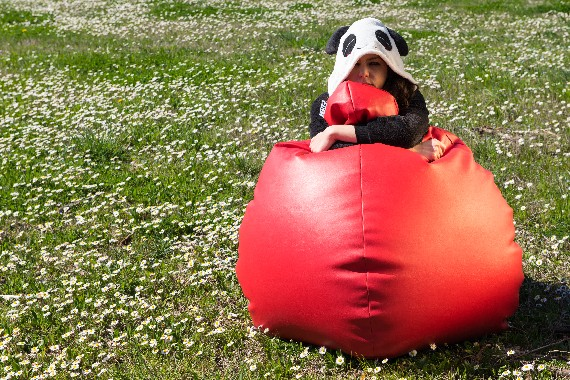 Poirò Midi: the classic bean bag pear midsize also like to Panda