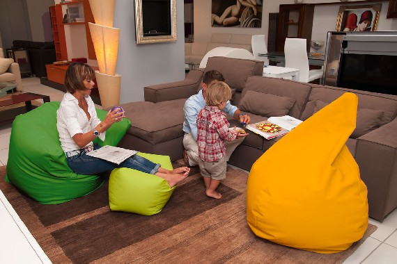 Sofa Soft Poirò Midi: the midi-sized pear shape beanbag chair