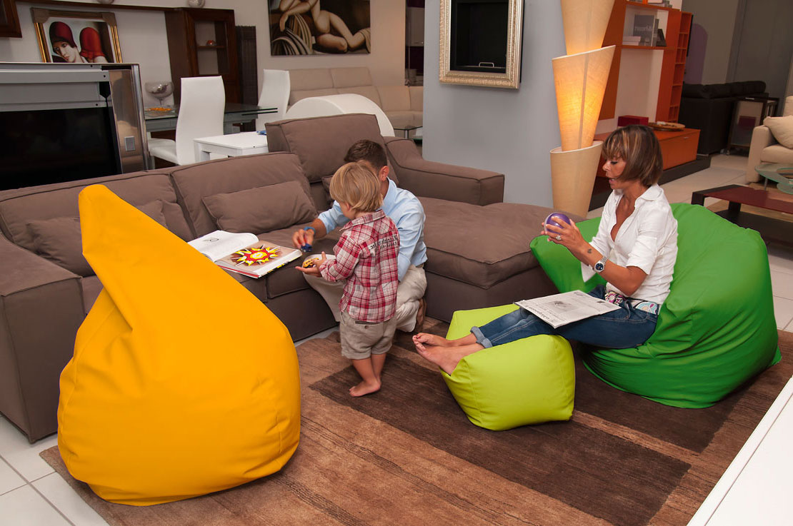 Sofa Soft Poirò Maxi - The classic pear-shaped bean bag pouf in huge format