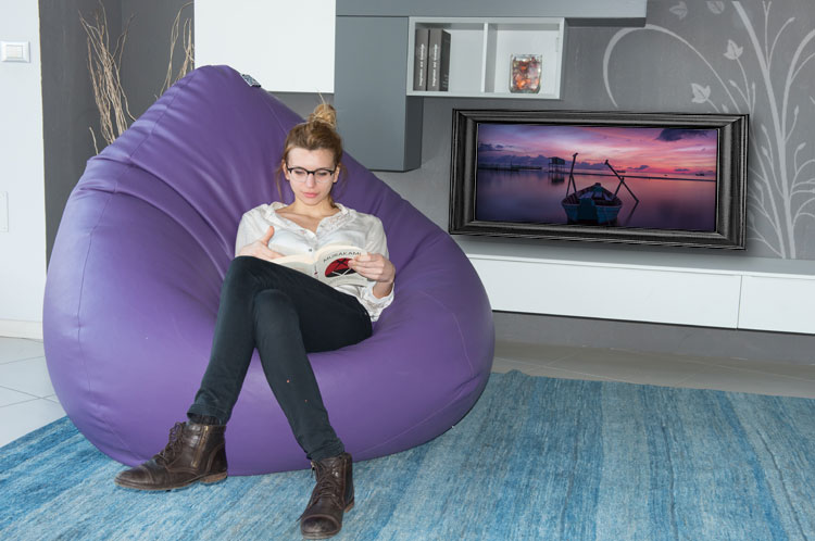 Sofa Soft Poirò Super - The classic pear-shaped bean bag pouf in huge format