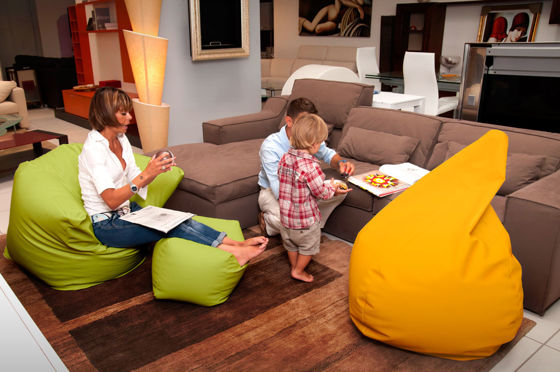 Sofa Soft Poltrò - The big beanbag chair with footrest