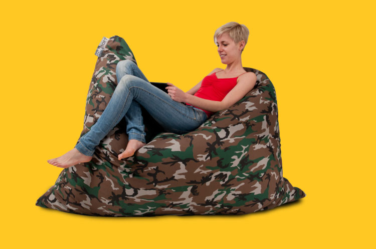 Sofa Soft Softò Army - The big rectangular beanbag cushion in camouflage fabric