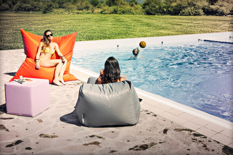 Sofa Soft Softò Nylon - The big rectangular beanbag cushion in nylon for outdoor use