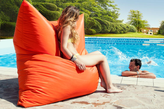 Sofa Soft Softò Nylon - The big rectangular beanbag chair waterproof