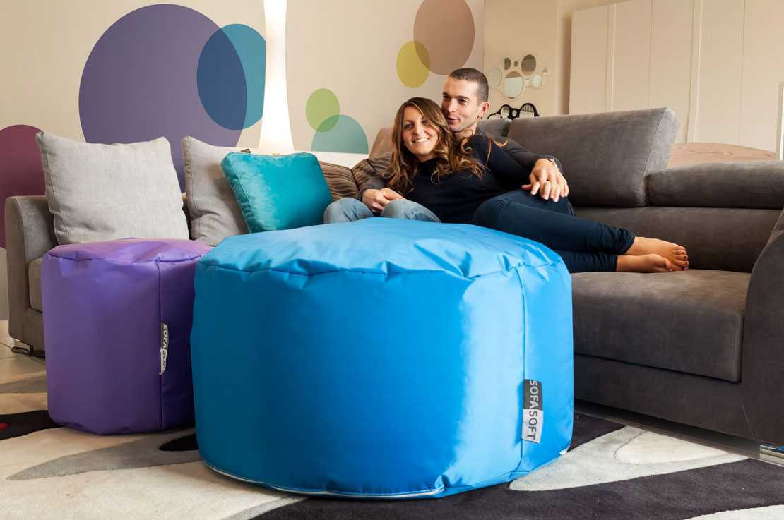 Sofa Soft Tubò Soft - The maxi cylindrical pouf - Combinable with other Sofa Soft