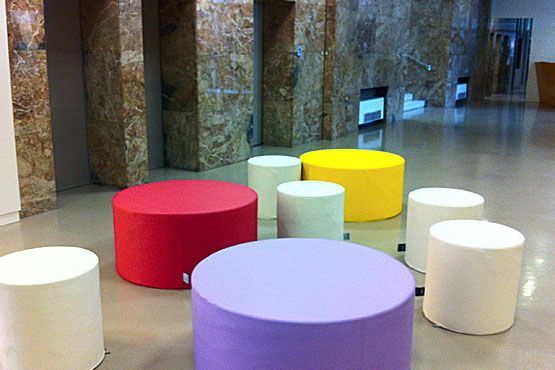 Sofa Tub Tubò Ecopelle - Modular and combinable with other pouf by Sofa Soft