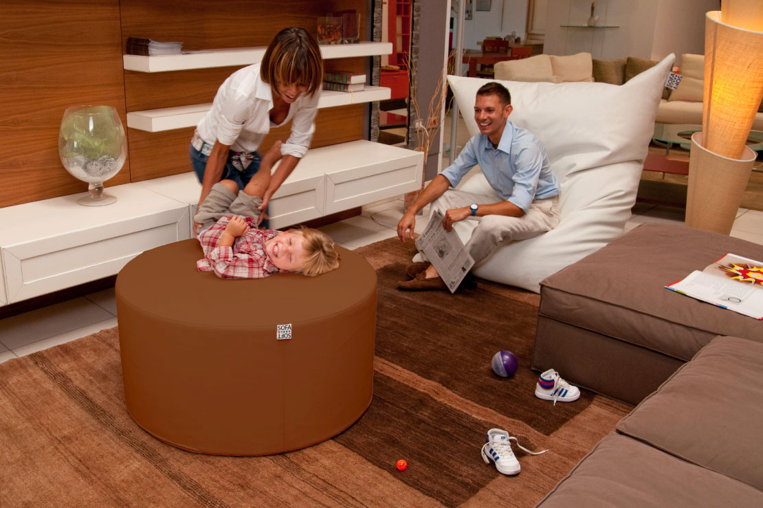 Sofa Tub Tubò - The maxi cylindrical pouf - Combinable with other Sofa Soft